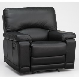 Williamburg Carlisle Black Leather Recliner
