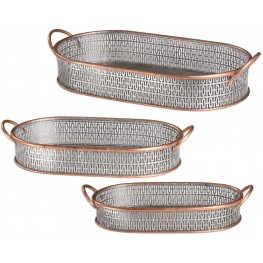 Fabiana Antiqued Silver Trays Set of 3