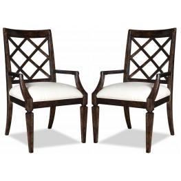 Classic Splat Back Arm Chair Set of 2