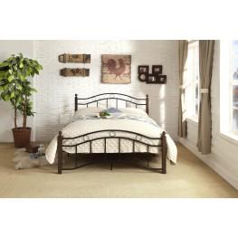 Averny Black & Brown Full Metal Platform Bed