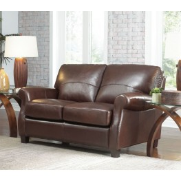 Carlisle Coffee Beans Leather Loveseat