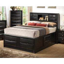Briana Black Queen Storage Bed
