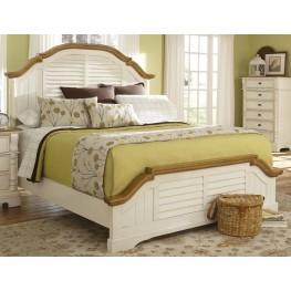 Oleta Buttermilk/Brown Queen Size Bed