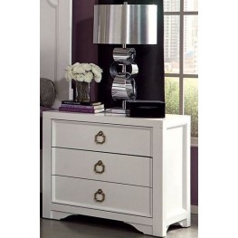 Furiani White Nightstand by Donny Osmond