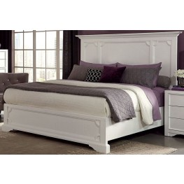 Furiani White Queen Panel Bed