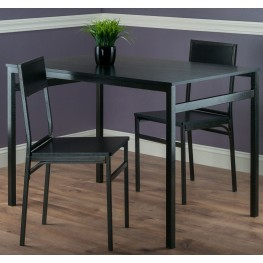 Milton Black 3 Piece Dining Room Set