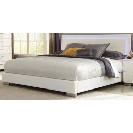 Felicity Glossy White Cal. King Platform Bed