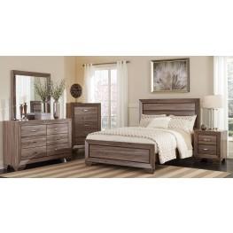 Kauffman Washed Taupe Panel Bedroom Set