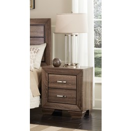 Kauffman Washed Taupe Nightstand
