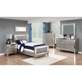 Leighton Metallic Mercury Youth Panel Bedroom Set