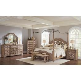 Ilana Antique Linen Poster Bedroom Set