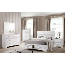 Miranda White Storage Platform Bedroom Set