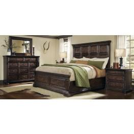 Whiskey Barrel Oak Panel Bedroom Set