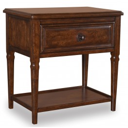 Whiskey Barrel Oak Bedside Chest