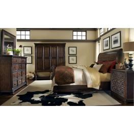 Whiskey Barrel Oak Sleigh Bedroom Set
