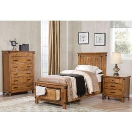 Brenner Rustic Honey Youth Panel Storage Bedroom Set