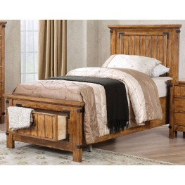 Brenner Rustic Honey Full Panel Storage Bed