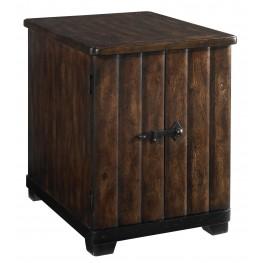 Whiskey Barrel Oak Chairside Table