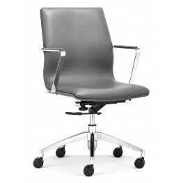 Herald Gray Low Back Office Chair