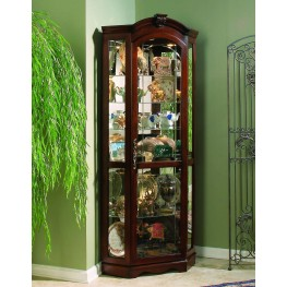 Medallion Cherry Corner Curio