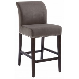 Prado Grey Fabric Counter Stool