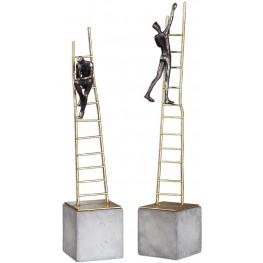 Ladder Climb Sculpture Set of 2