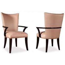 Cosmopolitan Ebony Upholstered Arm Chair Set of 2