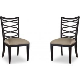 Cosmopolitan Ebony Ribbon Back Side Chair Set of 2