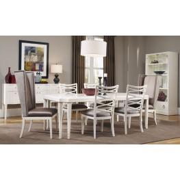 Cosmopolitan Parchment Leg Extendable Dining Room Set