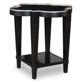 Cosmopolitan Ebony Shaped End Table