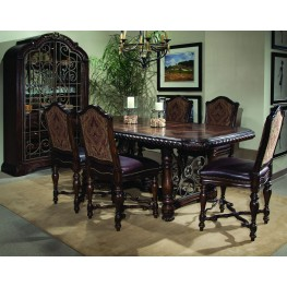 Valencia Gathering Height Extendable Dining Room Set
