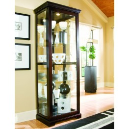 Two Way Chocolate Cherry Sliding Door Curio