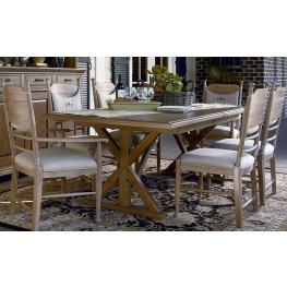 Down Home Oatmeal Family Style Rectangular Extendable Dining Room Set