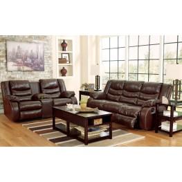 Linebacker DuraBlend Espresso Reclining Living Room Set