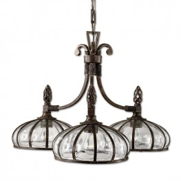 Galeana 3 Light Iron Chandelier