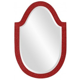 Lancelot Red Arched Mirror