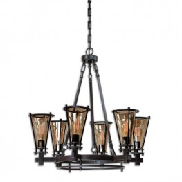 Frisco 6 Light Metal Chandelier