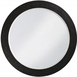 Lancelot Black Round Mirror