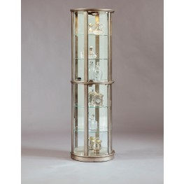 Platinum Glass Door Curio With Adjustable Shelves