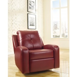 Mannix DuraBlend Red Swivel Glider Recliner