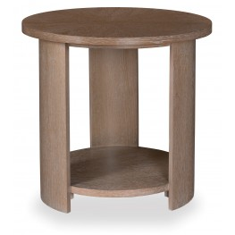 Greenpoint Sandstone Round Lamp Table