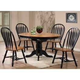 Missouri Black Single Pedestal Dining Room Set