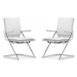 Lider Plus Conference Chair White Set of 2