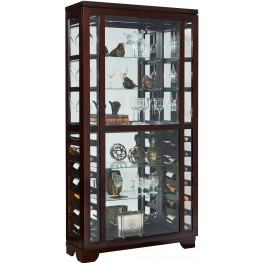 Sable Sliding Front Wine Curio