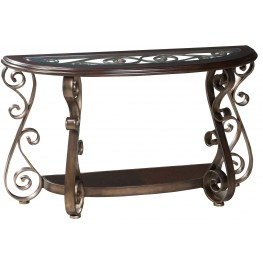 Bombay Dark Cherry Glass Top Sofa Table