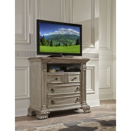 Orleans II White Wash Tv Chest