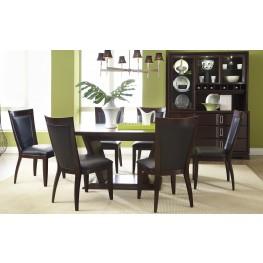 Brooke Rectangular Pedestal Dining Room Set