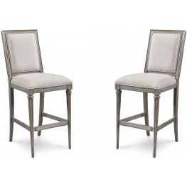 Morrissey Smoke Blake Bar Stool Set of 2