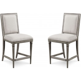 Morrissey Smoke Blake Counter Stool Set of 2