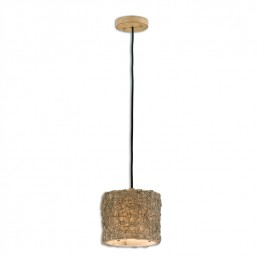 Knotted Rattan Light Mini Drum Pendant